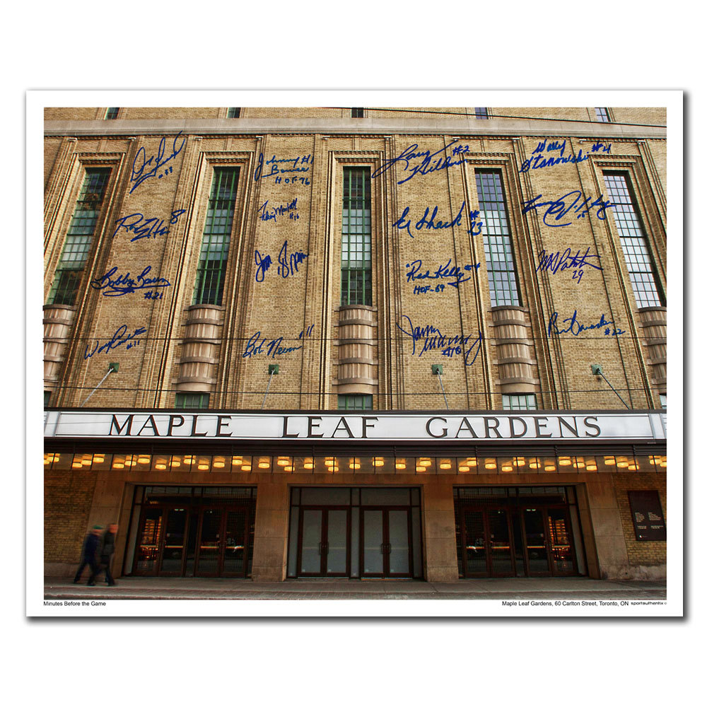Maple Leaf Gardens Toronto Maple Leafs Front Doors Autographed 16x20 ...