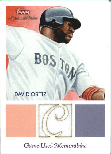 Photo of 2010 Topps National Chicle Relics National Chicle Back #DO David Ortiz
