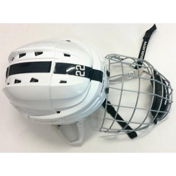 Photo of Penn State Game-Used Men's Ice Hockey Helmet (White #22)