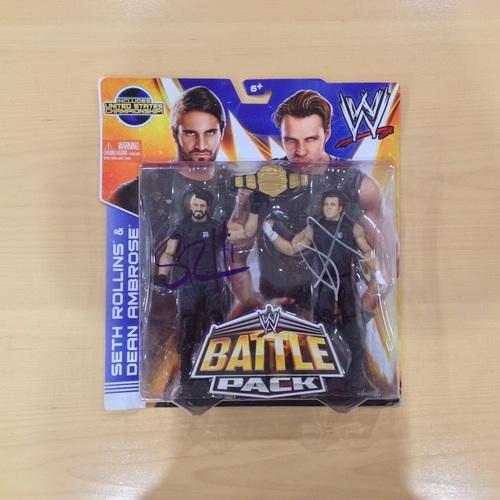 Seth Rollins & Dean Ambrose SIGNED Battle Pack Action Figures