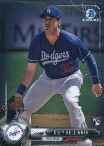 Photo of 2017 Bowman Chrome #27 Cody Bellinger Rookie Card