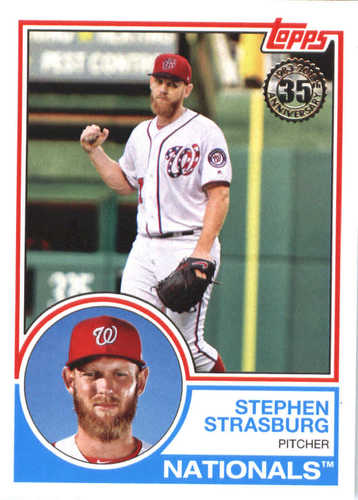 Photo of 2018 Topps '83 Topps #8336 Stephen Strasburg