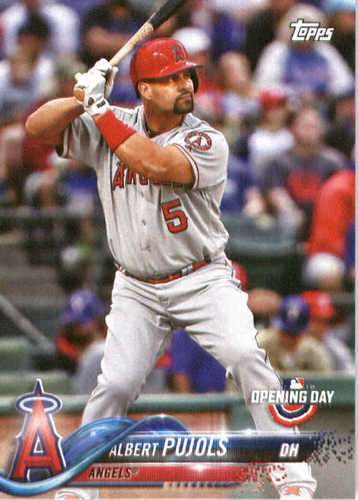 Photo of 2018 Topps Opening Day #140 Albert Pujols