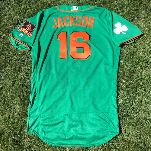 Photo of San Francisco Giants - 2018 St. Patrick's Day - Team Issued Jersey - Austin Jackson