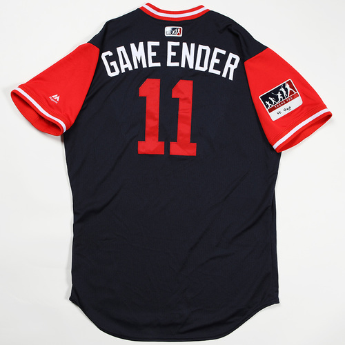 "Photo of Ender ""Game Ender"" Inciarte Atlanta Braves Game-Used Jersey 2018 Players' Weekend Jersey"