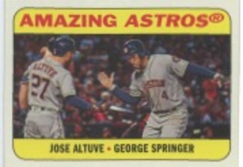 Photo of 2018 Topps Heritage Combo Cards #CC3 George Springer/Jose Altuve