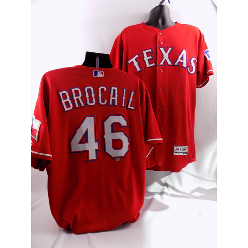 Photo of 8/7/18 - Game-Used Red Jersey - Doug Brocail