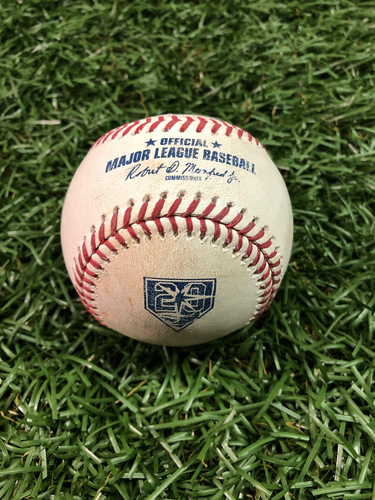 Photo of 20th Anniversary Game Used Baseball: Miguel Andujar single off Jonny Venters - July 25, 2018 v NYY