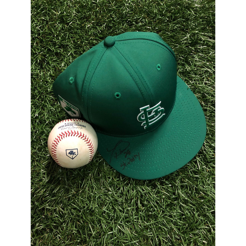Photo of National Keratoconus Foundation Auction: Tommy Pham Autographed St. Patrick's Day Cap and Game Used Baseball
