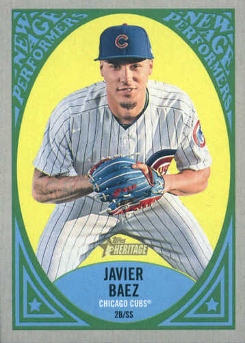 Photo of 2019 Topps Heritage New Age Performers #NAP21 Javier Baez