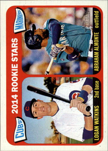 Photo of 2014 Topps Heritage #166 Abraham Almonte RC/Logan Watkins RC