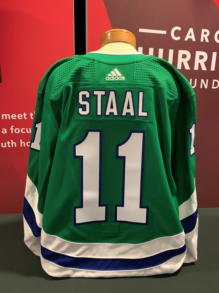 Jordan Staal #11 Autographed, Game Issued Hartford Whalers Jersey