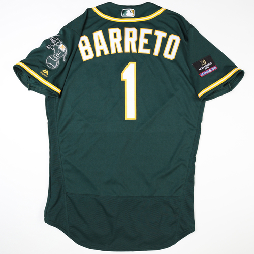 Photo of 2019 Japan Opening Day Series - Game Used Jersey - Franklin Barreto, Oakland Athletics at Nippon Ham Fighters -3/17/2019