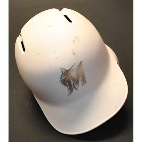 "Photo of Neil ""WALK"" Walker Miami Marlins Game-Used 2019 Players' Weekend Helmet"