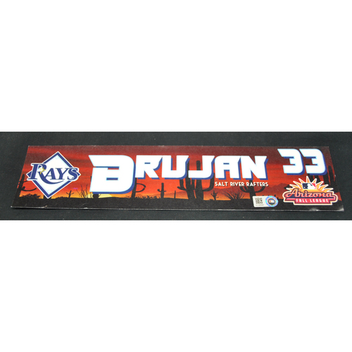 Photo of Arizona Fall League - Game-Used Locker Tag - Vidal Brujan (TB), Jersey Number: 3