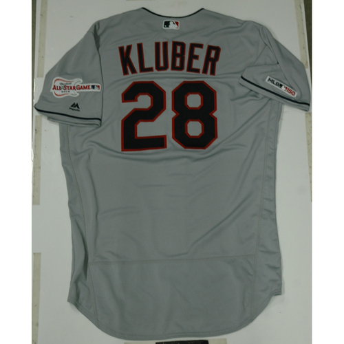 Photo of Corey Kluber 2019 Team Issued Road Jersey