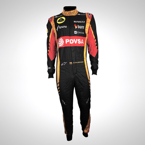 Photo of Pastor Maldonado 2014 replica race suit