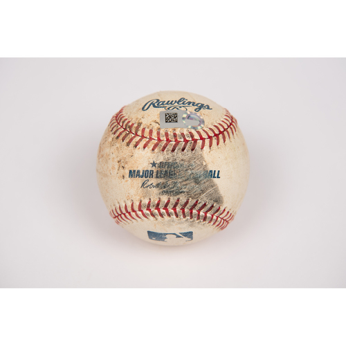 Photo of Game-Used Baseball: Pitcher Chris Stratton, Batter: Shohei Ohtani (Single) - Bot 7 - 8/12/19 vs. PIT