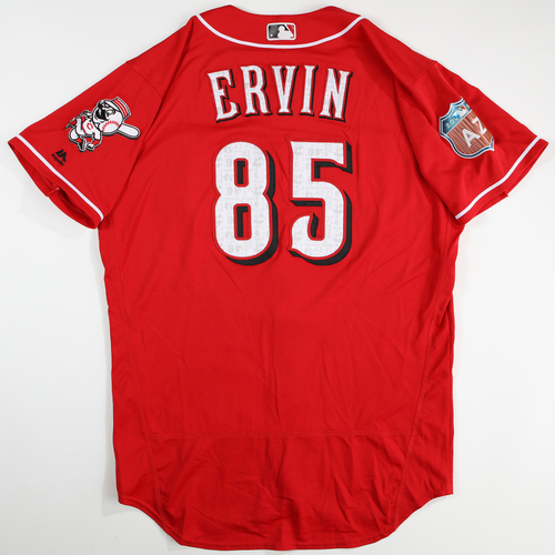 Photo of 2016 Spring Training - Spring Training Game Used Jersey - Phillip Ervin (Reds)- Size- 46
