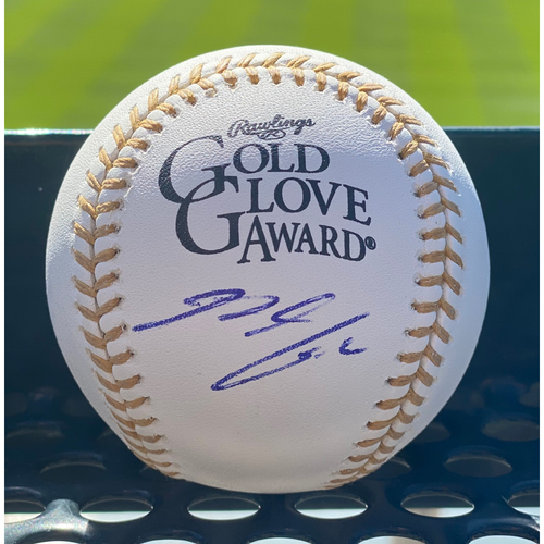 "Photo of Colorado Rockies ""Rawlings Gold Glove Award"" Autographed Baseball: Nolan Arenado"