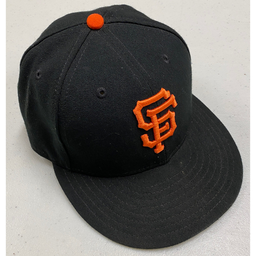 Photo of 2019 Team Issued Regular Season Black Cap - #6 Steven Duggar - Size 7 1/8