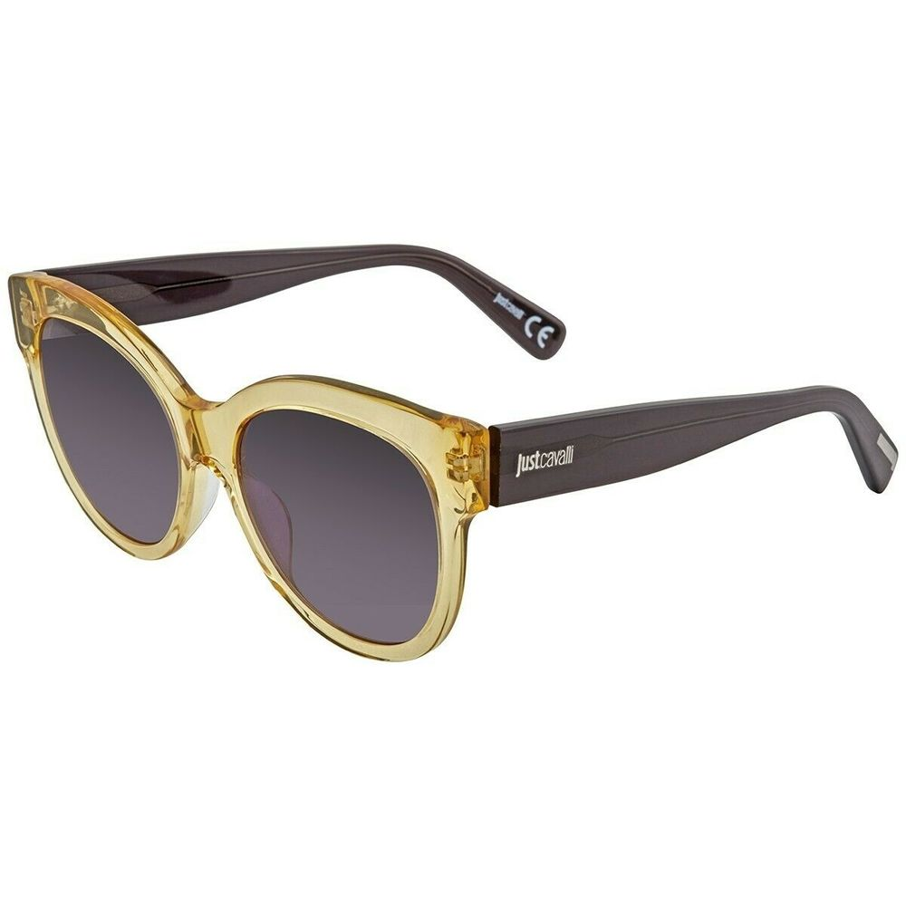 Photo of JUST CAVALLI Women's JC760S 39A Shiny Yellow/Smoke Lens Sunglasses