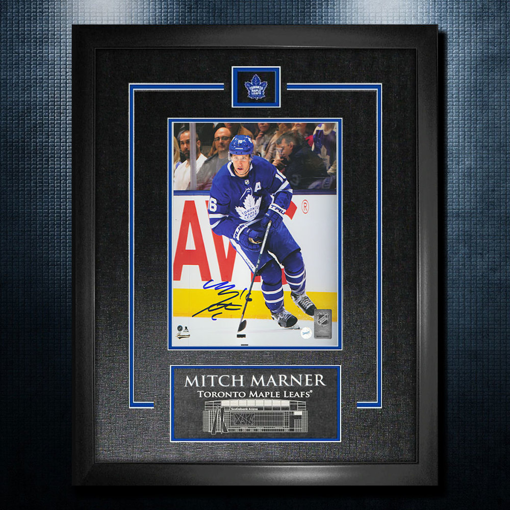 Mitch Marner Toronto Maple Leafs Autographed 18x22 Frame