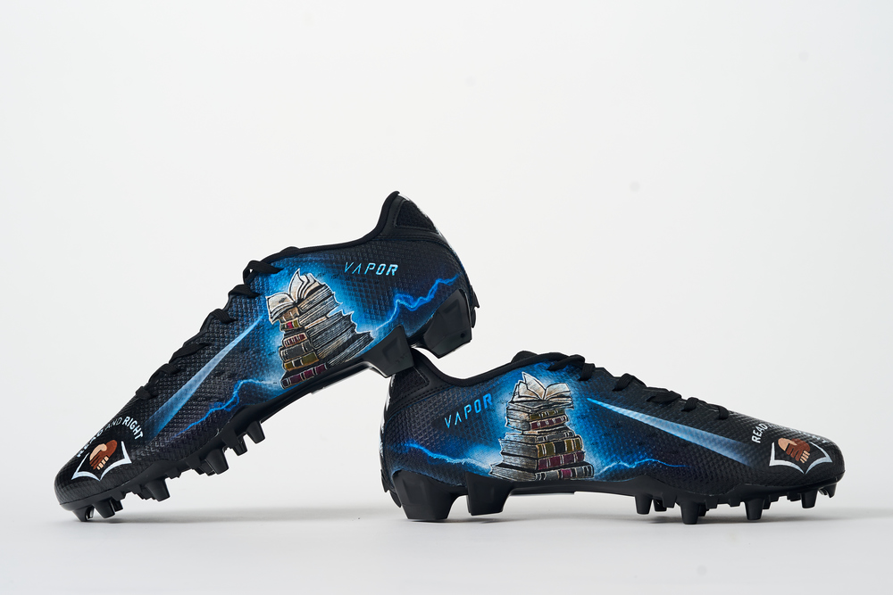 My Cause My Cleats - Seahawks Penny Hart custom cleats - supporting Read & Right ATL