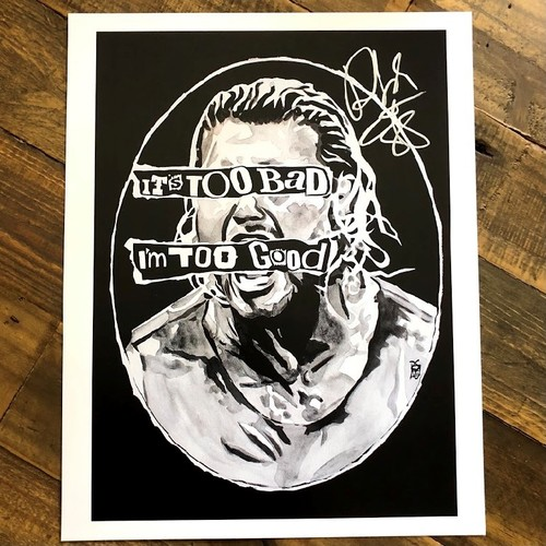 Photo of Dolph Ziggler SIGNED 11 x 14 Rob Schamberger Print