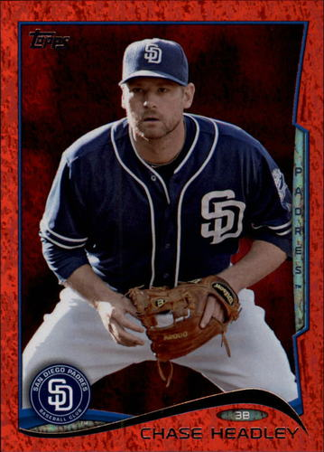 Photo of 2014 Topps Red Foil #417 Chase Headley