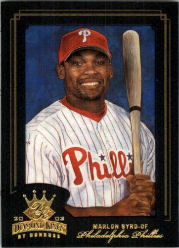 Photo of 2003 Diamond Kings Gold Foil #130 Marlon Byrd