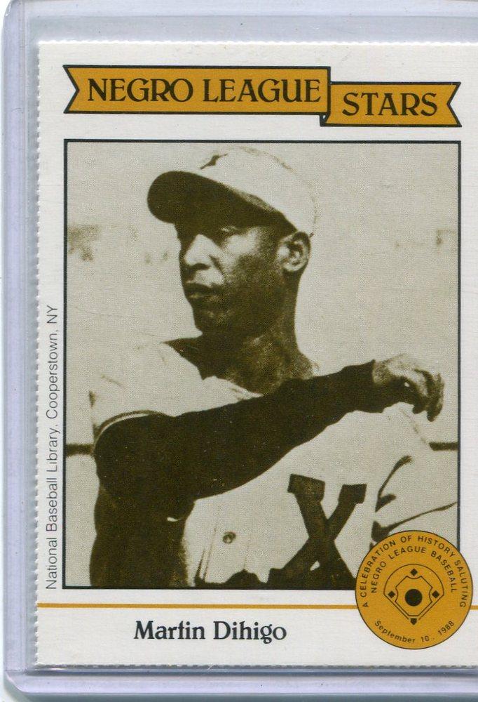 1988 Negro League Duquesne Light Co. #10 Martin Dihigo