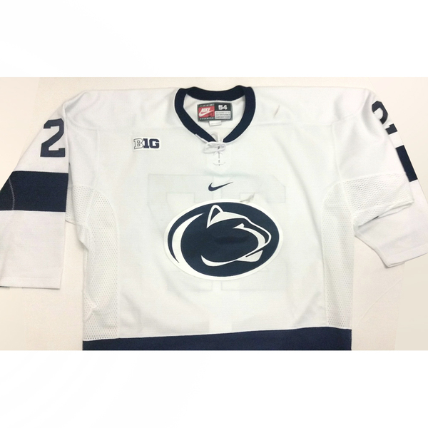 Photo of Penn State Game-Used Men's Ice Hockey Jersey (White #27, Size 54)