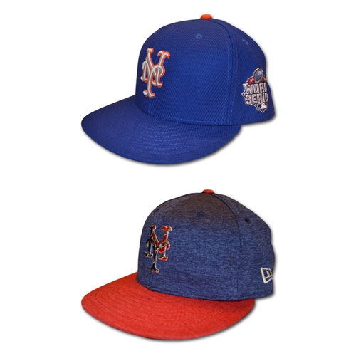 Photo of Eric Langill #78 - Team Issued 2015 Blue Alt. Road World Series Hat - Game Used July 4th Hat - Mets vs. Nationals - 7/4/17