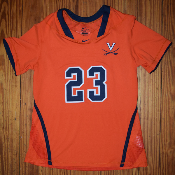 Photo of Game-Worn University of Virginia Women's Lacrosse Jersey: Orange #23