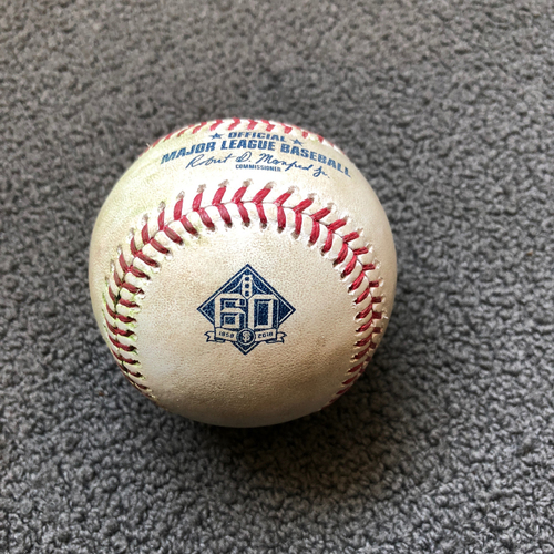 Photo of San Francisco Giants - 2018 Game-Used Baseball - Miguel Gomez Single to RF - 5/19/18 vs. Colorado Rockies