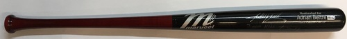 "Photo of Adrian Beltre ""3,000th Hit 7/30/17"" Autographed Game Model Marucci Bat"
