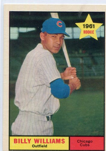 Photo of 1961 Topps #141 Billy Williams Rookie Card -- Hall of Fame Class of 1987
