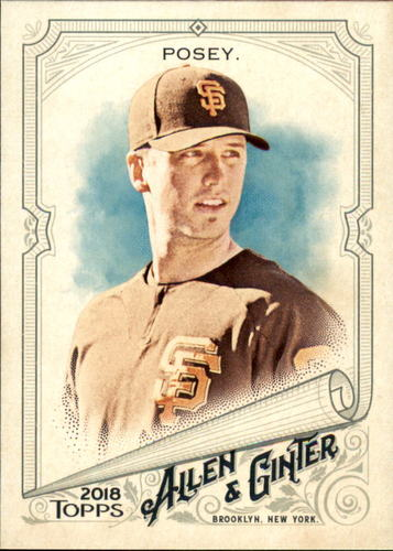Photo of 2018 Topps Allen and Ginter #172 Buster Posey