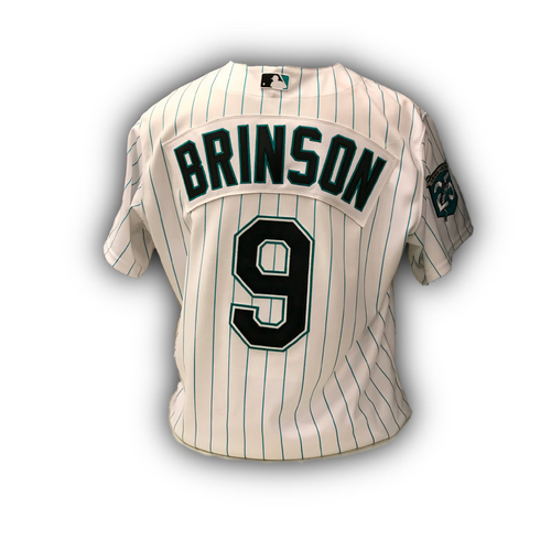 Photo of Game-Used Jersey: Lewis Brinson 2018 Florida Marlins Jersey (25th Anniversary Weekend - June 8-10, 2018)