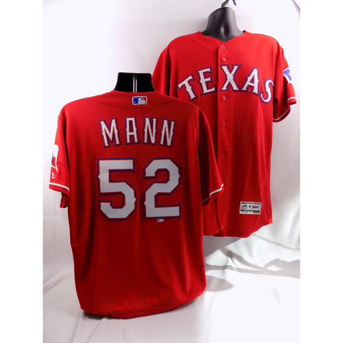 Photo of 6/15/18 - Game-Used Red Jersey - Brandon Mann