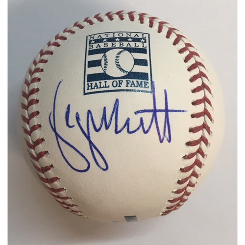 Photo of George Brett Autographed HOF Logo Baseball