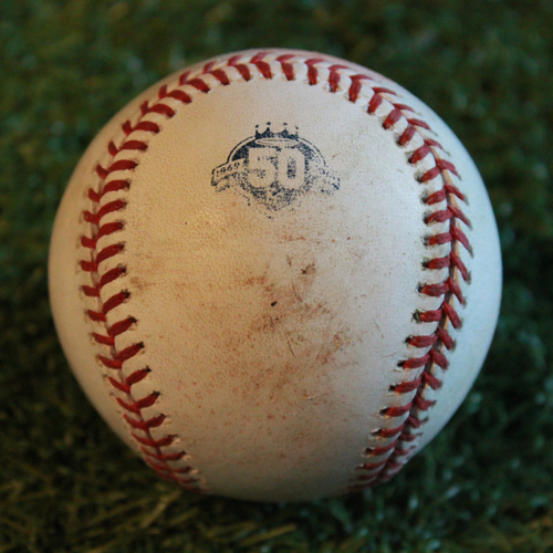 Photo of Game-Used Baseball: Yolmer Sanchez 86th Career Double (CWS @ KC - 9/11/18)