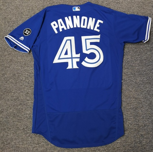 Photo of Authenticated Game Used Jersey - #45 Thomas Pannone (Aug 11, 18). Size 44. Rookie Season