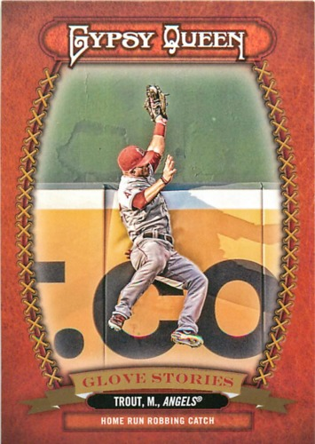 Photo of 2013 Topps Gypsy Queen Glove Stories #MT Mike Trout