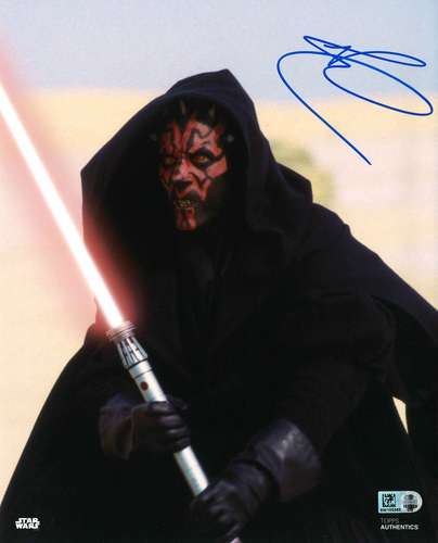 Ray Park As Darth Maul 8X10 Autographed in Blue Ink Photo