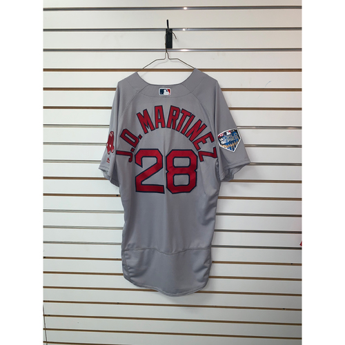 Photo of JD Martinez Team Issued 2018 World Series Road Jersey