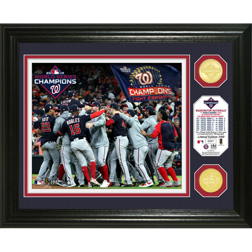 "Photo of Washington Nationals 2019 World Series Champions ""Celebration"" Bronze Coin Photo Mint"