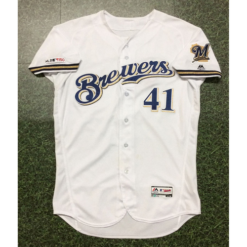 Photo of Junior Guerra 2019 Game-Used Opening Day Jersey