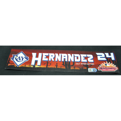 Photo of Arizona Fall League - Game-Used Locker Tag - Ronaldo Hernandez (TB), Jersey Number: 37